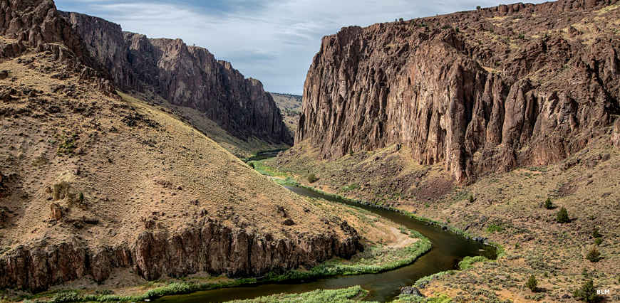 In the canyon of the Owyhee River