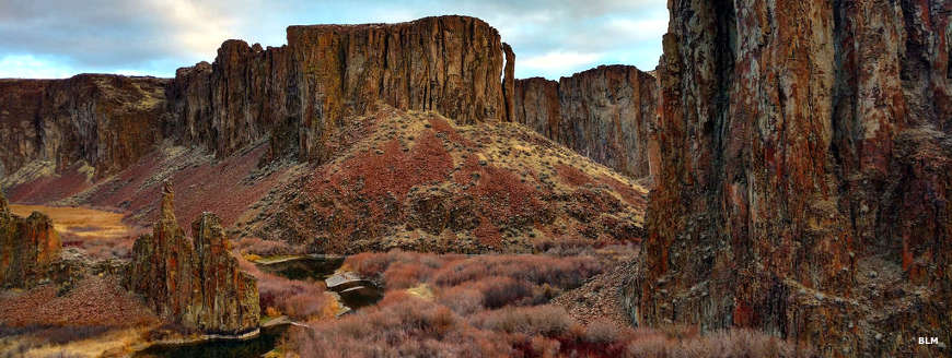 A fall view in the upper canyon of the East Fork of the Owyhee River