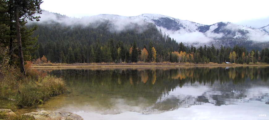 Cascade Lake in the winter