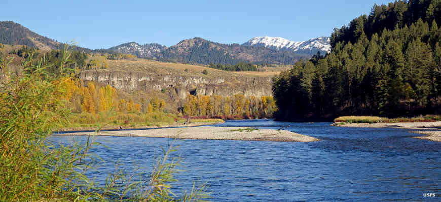 Typical river view in Caribou-Targhee National Forest