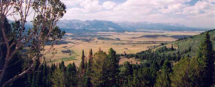 The view from Galena Overlook on the Sawtooth Scenic Byway