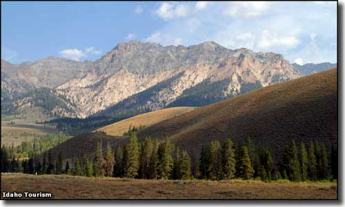 The Boulder Mountains in Sawtooth National Recreation Area