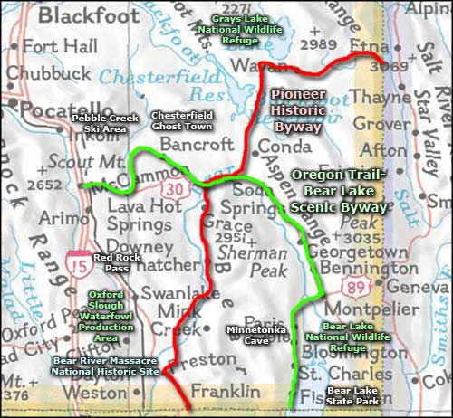Bear Lake area map