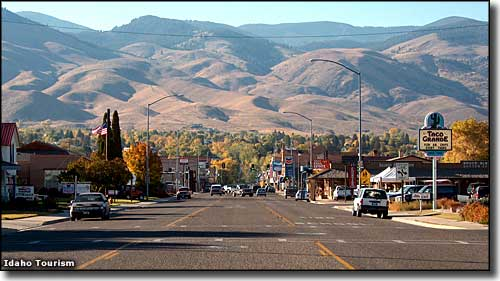 Salmon, Idaho, on the Sacajawea Historic Byway