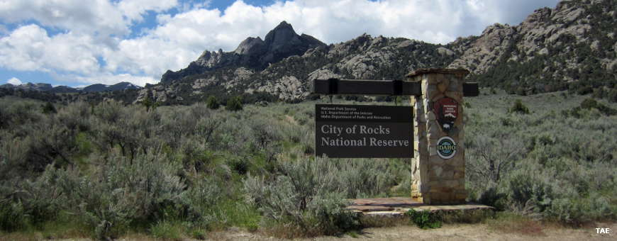 National Reserve sign at the east entrance to the park