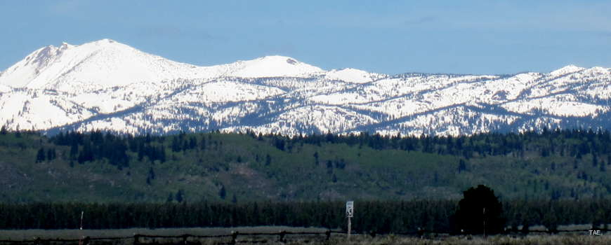 At the north end of the byway: a view of the Centennial Mountains
