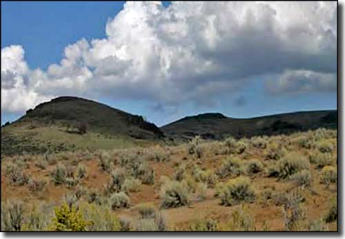 A typical view along the Owyhee Uplands Backcountry Byway