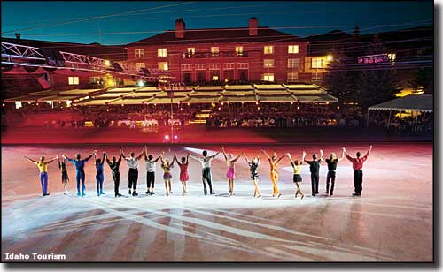 An ice skating show at Sun Valley Resort