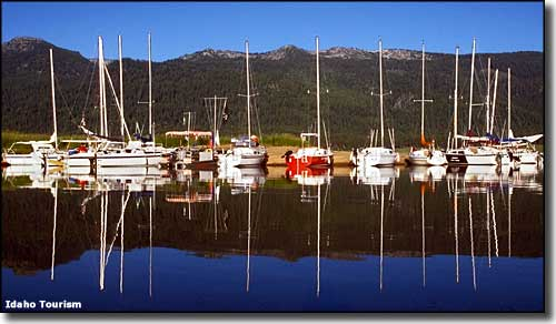Sailboats at Lake Cascade State Park