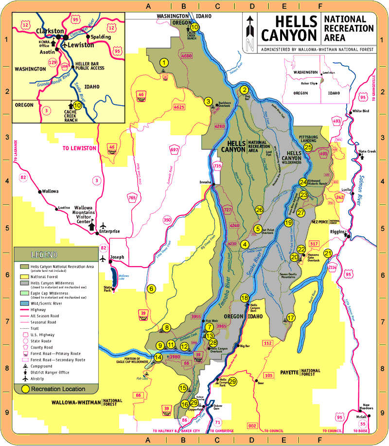 Hells Canyon Wilderness National Wilderness Areas