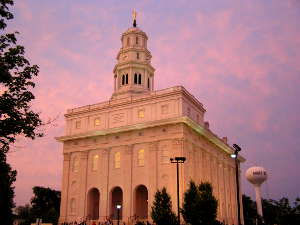 The New LDS Temple in Nauvoo, Illinois
