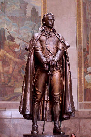 George Rogers Clark statue inside the Memorial