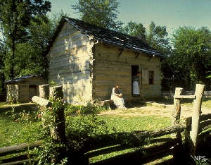 Replica of the Lincoln cabin