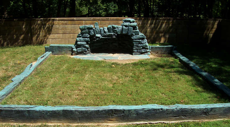 Foundation of Abraham Lincoln's boyhood home