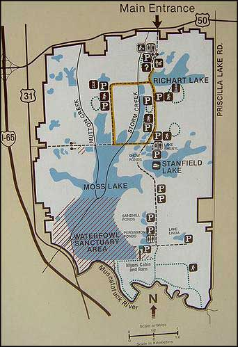 Map of Muscatatuck National Wildlife Refuge