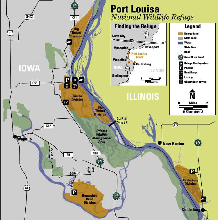 Port louisa national wildlife refuge national wildlife for Iowa fishing license cost
