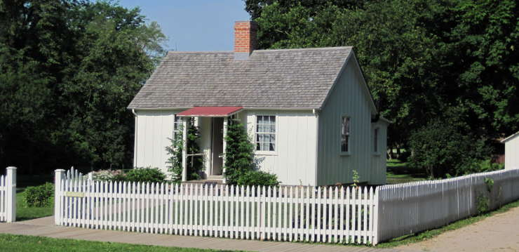 The birthplace of President Herbert Hoover