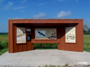 An interpretive kiosk at Flint Hills National Wildlife Refuge