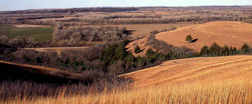 Looking over the Konza Hills from the Flint Hills Scenic Byway