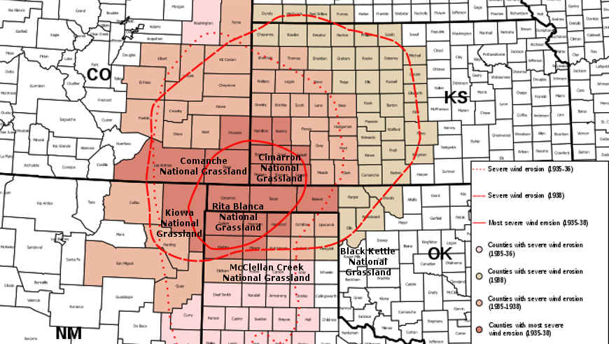 The Dust Bowl counties