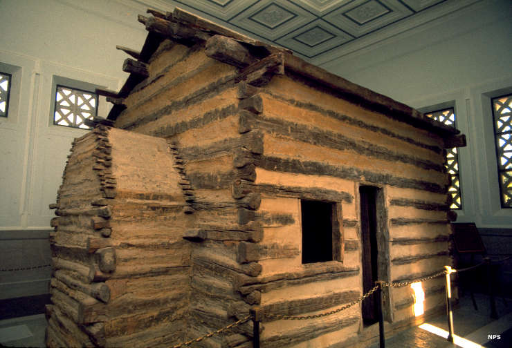The reconstructed Lincoln cabin
