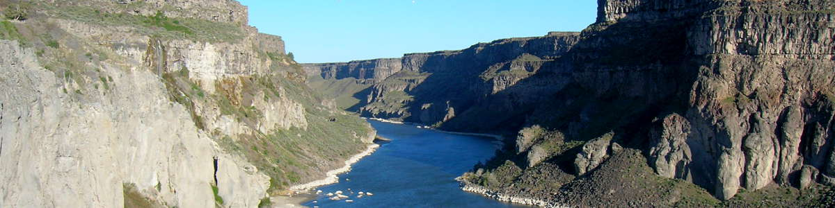 The Snake River Gorge near Thousand Springs, Idaho