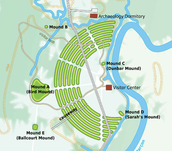 Map of Poverty Point National Monument