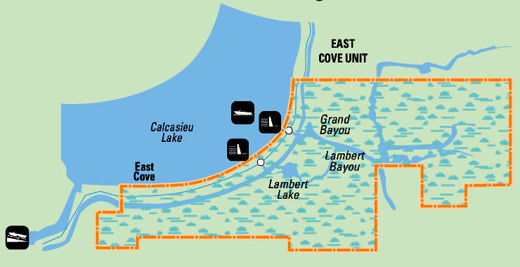 Map of East Cove National Wildlife Refuge