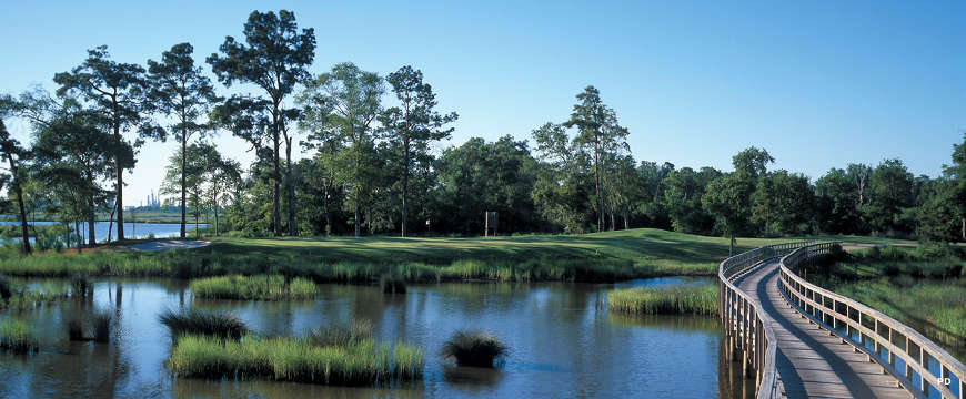 The Grey Plantation Golf course along the Creole Nature Trail Scenic Byway