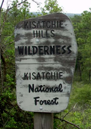 Kisatchie Hills Wilderness sign