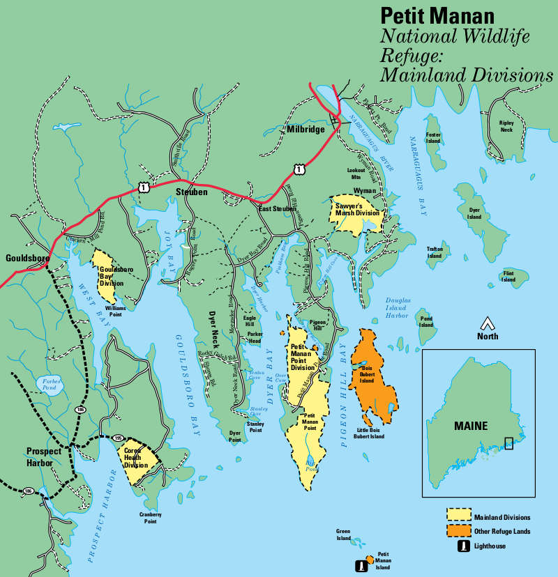 Map of Petit Manan National Wildlife Refuge