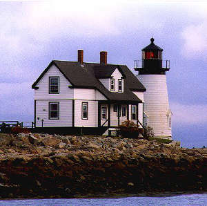 Prospect Harbor Lighthouse along the Schoodic Scenic Byway