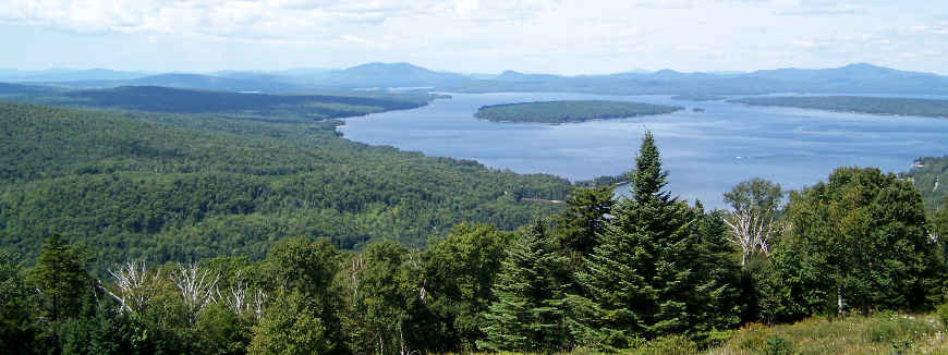 Looking over Mooselookmeguntic Lake from the Rangeley Lakes Scenic Byway