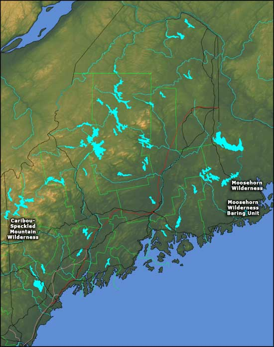 National wilderness areas in maine national wilderness areas for Fishing areas near me