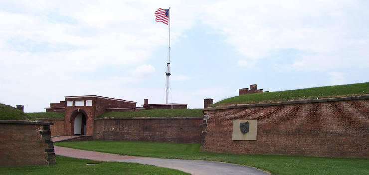 Entrance to Fort McHenry