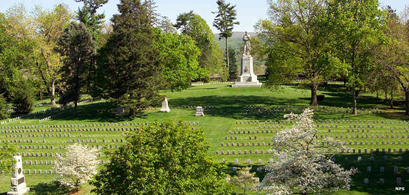 A view of Antietam National Cemetery