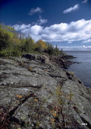 Along the shoreline at Isle Royale