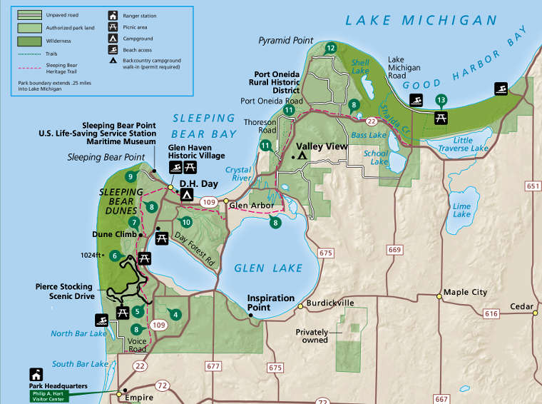 Sleeping Bear Dunes National Lakeshore The Sights and Sites of