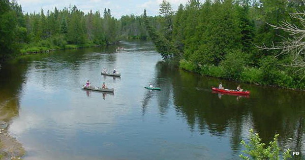 Canoers on the Au Sable River