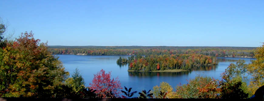 View from the Lumberman's Monument Visitor Center, River Road Scenic Byway