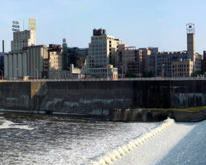 A view of the St. Anthony Falls Historic District