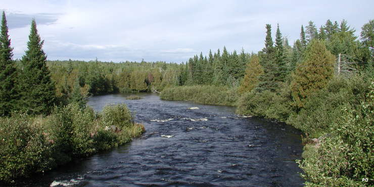 The North Brule River from along the Gunflint Trail National Scenic Byway