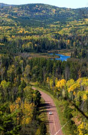 Looking down on the Gunflint Trail