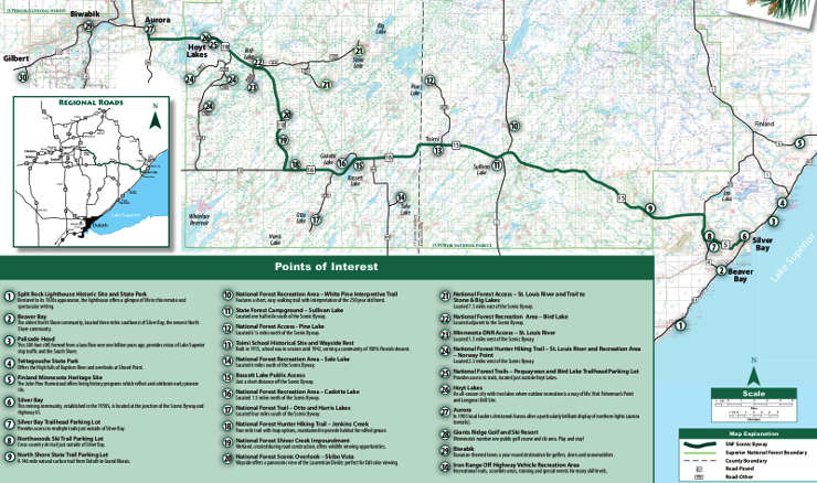 Superior National Forest Scenic Byway area map
