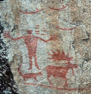 The pictographs at Hegman Lake