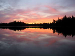 Sunset at Pose Lake, Boundary Waters Canoe Area Wilderness