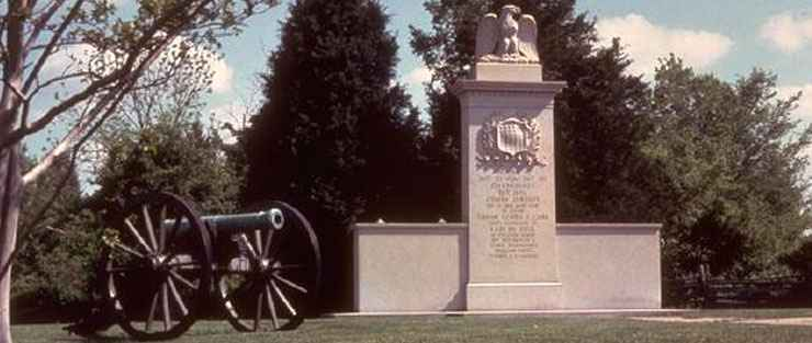 The Memorial at Brices Cross Roads National Battlefield Site