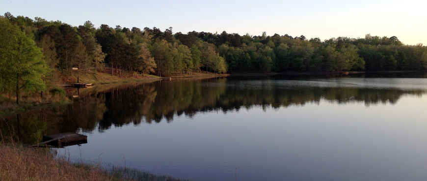 Puskus Lake on Holly Springs National Forest