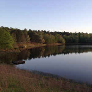 A view of Puskus Lake in Holly Springs National Forest