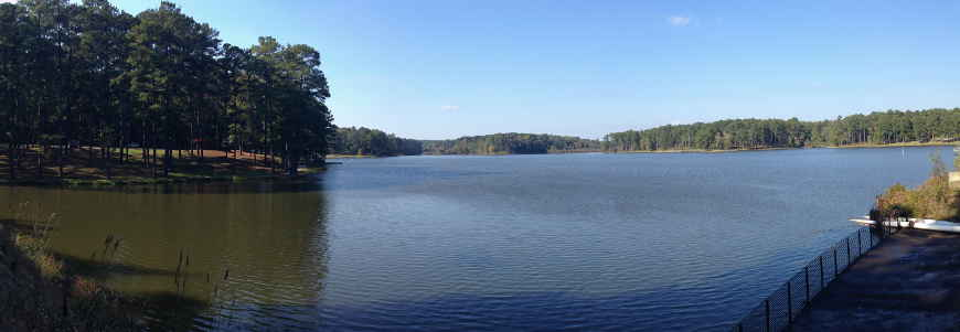 A view of Choctaw lake on Tombigbee National Forest